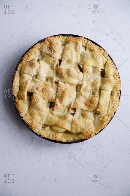 Apple pie with lattice decoration