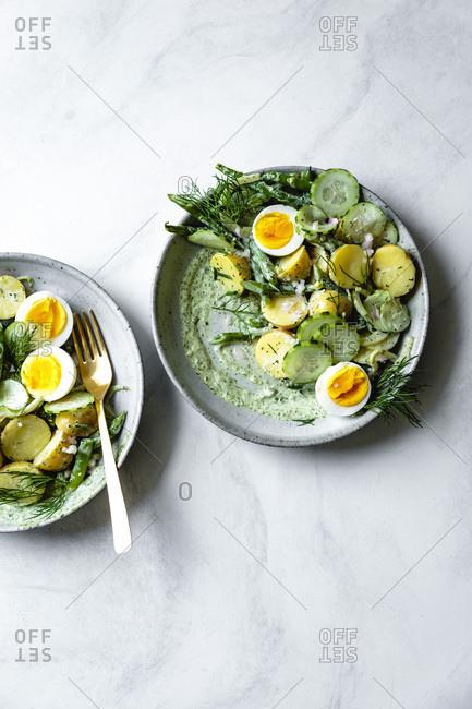 Green goddess potato salad - Offset