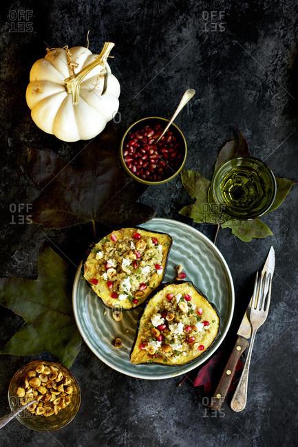 Quinoa stuffed Acorn Squash - Offset