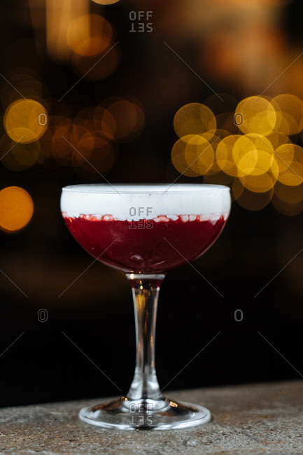 Fruity red cocktail