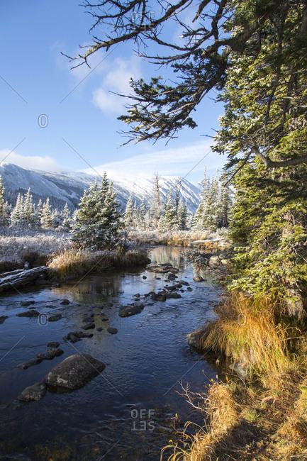 Beautiful snowy mountainscape