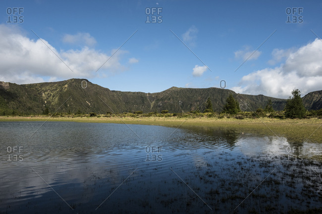 A small lagoon in the crater of Lagoa do Fogo