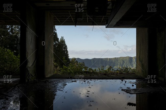 View from a room of the abandoned Monte Palace hotel