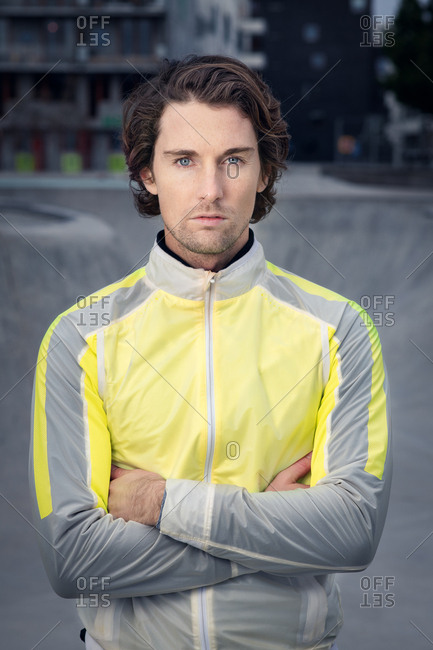 Portrait of attractive man in stylish active wear