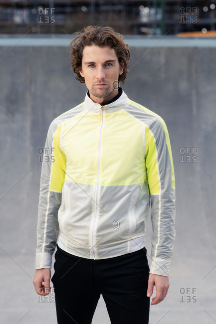 Portrait of attractive man in stylish athletic clothing