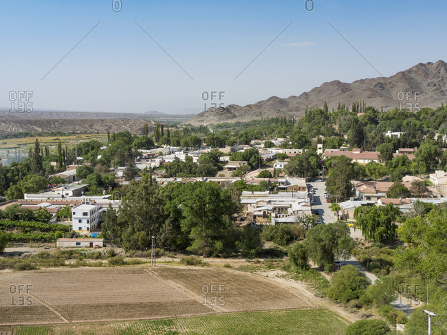 Small town of Cachi in the Valles Calchaqui region, Salta Province, Argentina.