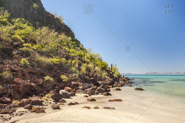 Mexico, Baja California Sur, Isla San Jose. Beach scenic.