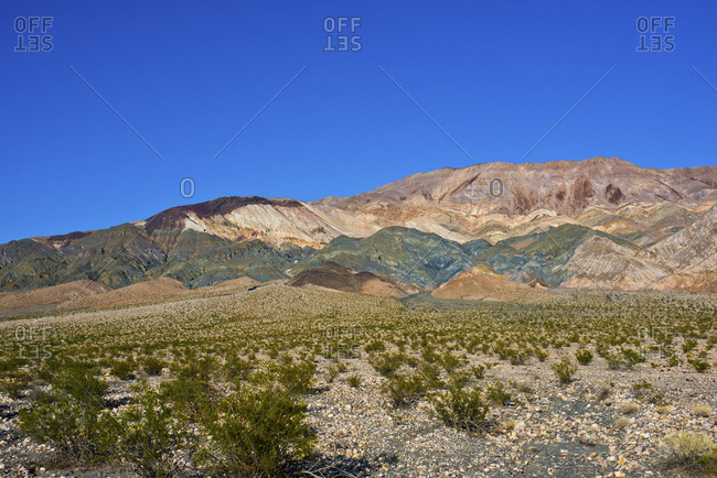 USA, California, Death Valley National Park, South Eureka Dunes road scenery, Last Chance Mountain Range