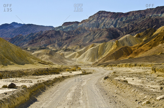 USA, California, Death Valley National Park, Twenty Mule Team Canyon