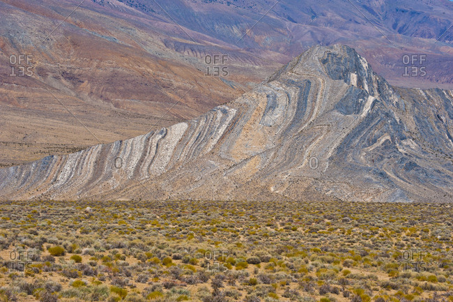 USA, California, Death Valley National Park, Butte Valley Road, Striped Butte