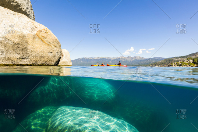 Water level view of Lake Tahoe taken from Sand Harbor, Nevada.