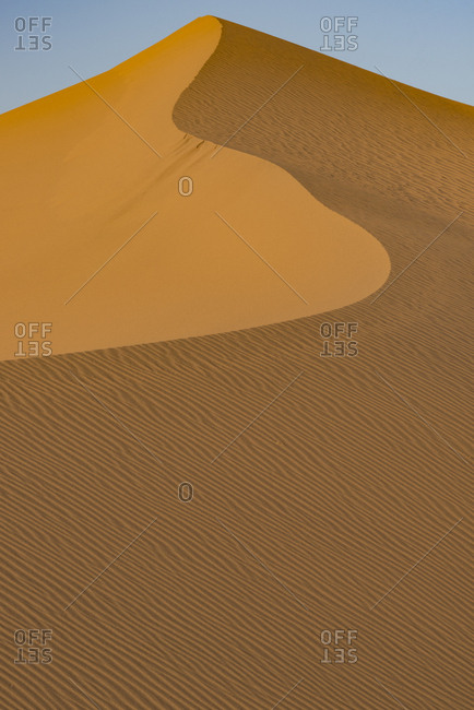 USA, California. Windblown sand dune