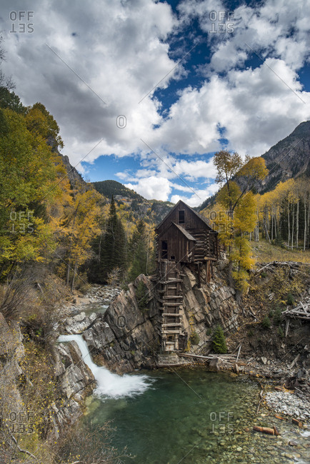 Fall Aspens at Historic Crystal Mill, White River National Forest, Colorado