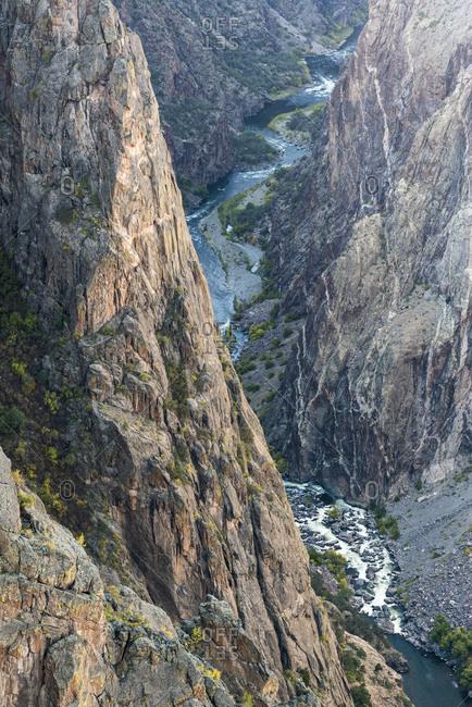 Gunnison River winding through Black Canyon, Colorado