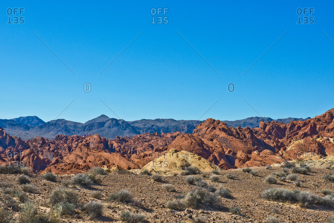 USA, Nevada, Valley of Fire State Park. Fire Canyon Road