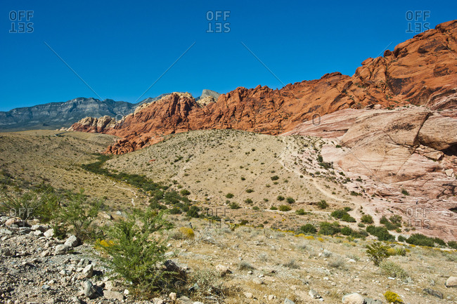 USA, Nevada, Las Vegas, Red Rock National Conservation Area, Calico Hills South Overlook