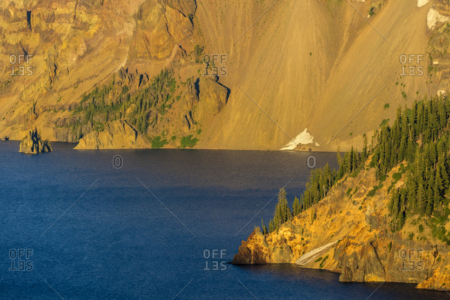 Phantom Ship Island at Crater Lake National Park, Oregon, USA