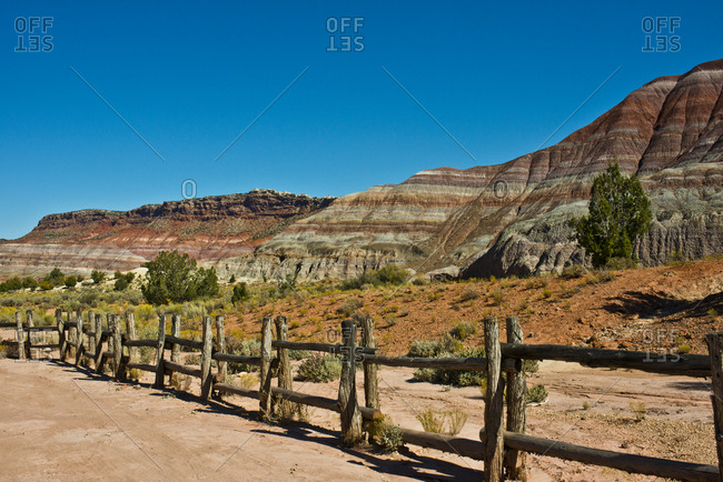 USA, Utah, Paria. View along trail to ghost town