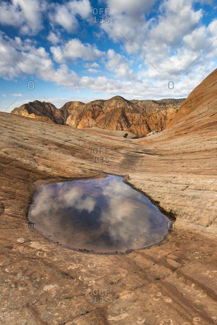 Sandstone Rock Candy Cliffs area, near St. George, Utah
