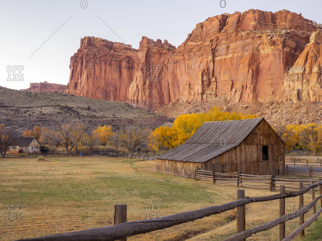Utah, Capitol Reef National Park, old barn
