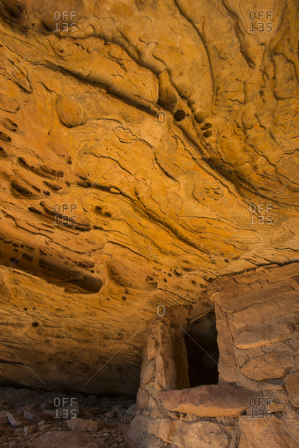 USA, Utah. Cap Rock Ruins detail, Colorado Plateau, Cedar Mesa, Bears Ears National Monument