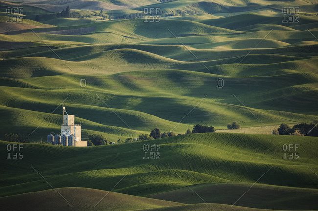 USA, North America, Washington - May 30, 2016: Views from Steptoe Butte State Park.