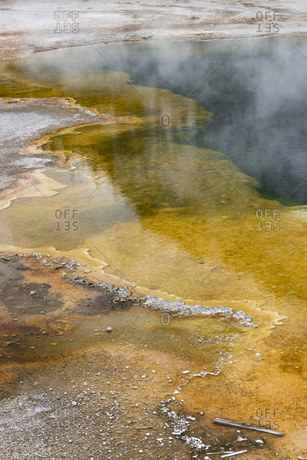 USA, Wyoming. Emerald Pool, Black Sand Basin, Yellowstone National Park.