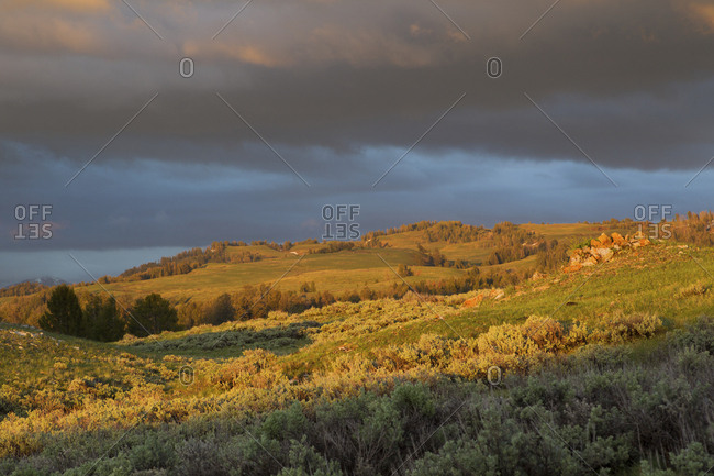 Sage Brush Country, spring storm clouds