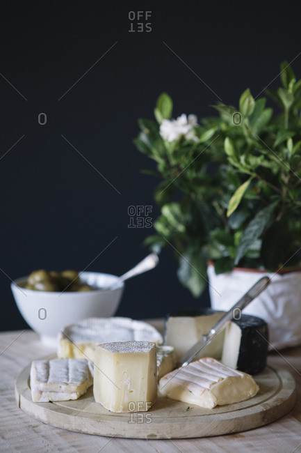 Cheese selection on the buffet of a luxury brunch