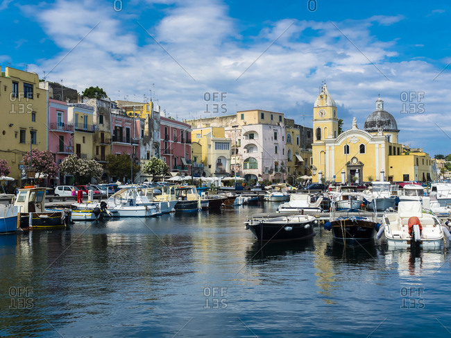 June 10, 2016: Italy- Campania- Phlegraean Island- Procida Island- Marina die Procida