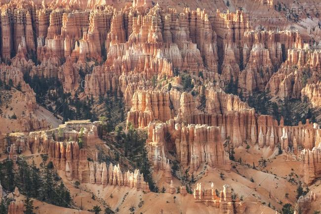 USA- Utah- rock formations at Bryce Canyon National Park- hoodoos