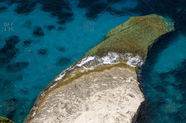Corsica- Mediterranean coast- rocky beach