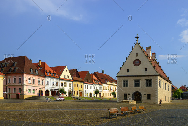 June 4, 2018: Slovakia- Bardejov- Old town- townhall