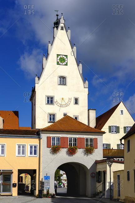 September 25, 2018: Germany- Bavaria- Swabia- Donau-Ries- Monheim- Upper Gate