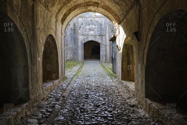 Albania- Shkoder- Rozafa Castle- entrance
