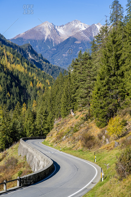 Switzerland- Grisons- Albula Valley- Albula Pass road