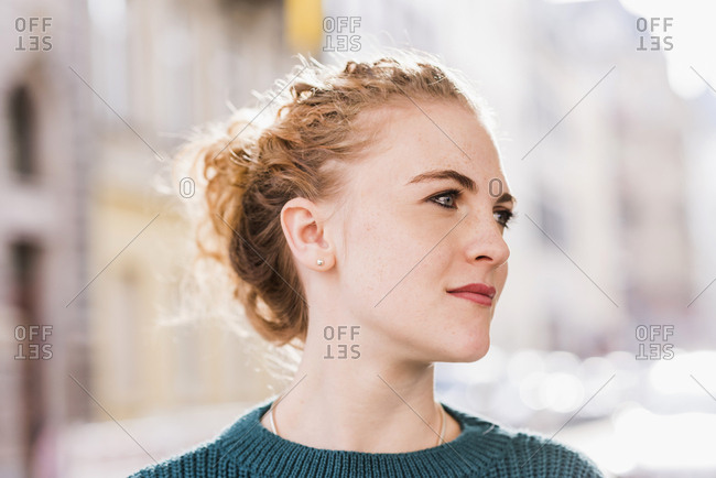 Portrait of strawberry blonde young woman
