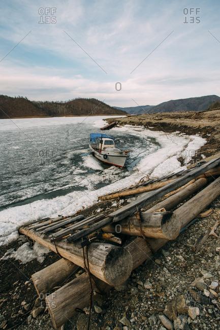Russia- Amur Oblast- Zeya River in winter