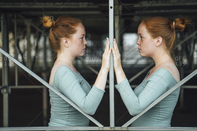 Redheaded twins- face to face