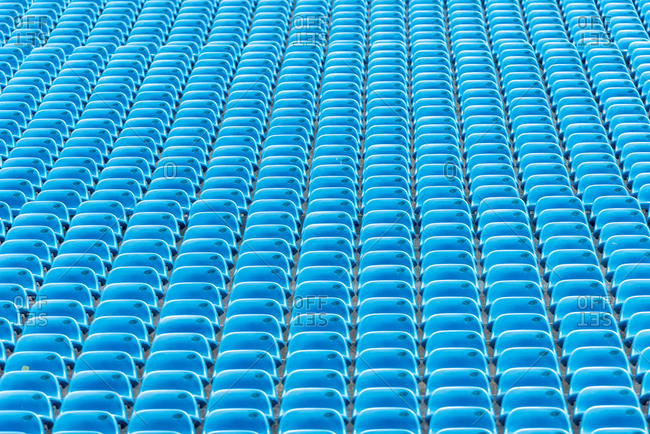 Blue Stadium Seats empty