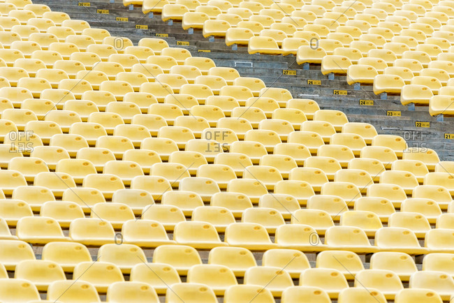 Yellow Stadium Seats empty