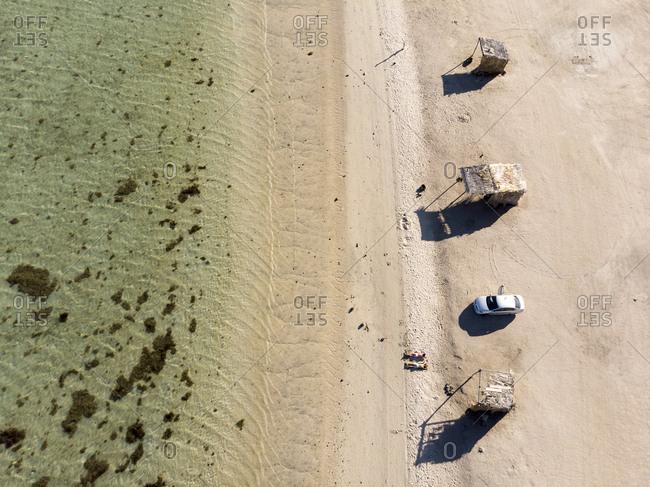 Overhead view of Playa El Requeson, Baja California Sur, Mexico