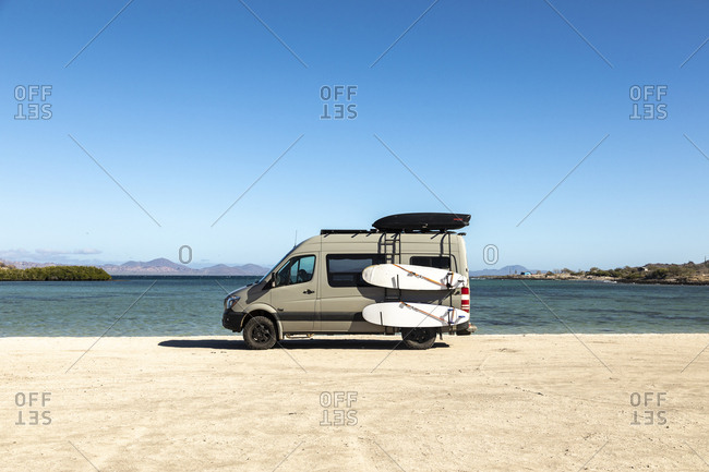 Baja California Sur, Mexico - December 9, 2018: Playa El Requeson, Baja California Sur, Mexico