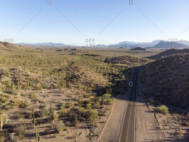 View over the Transpeninsular road to Mulege, Baja California Sur, Mexico