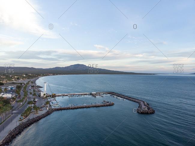 Aerial view of Loreto, Baja California Sur, Mexico