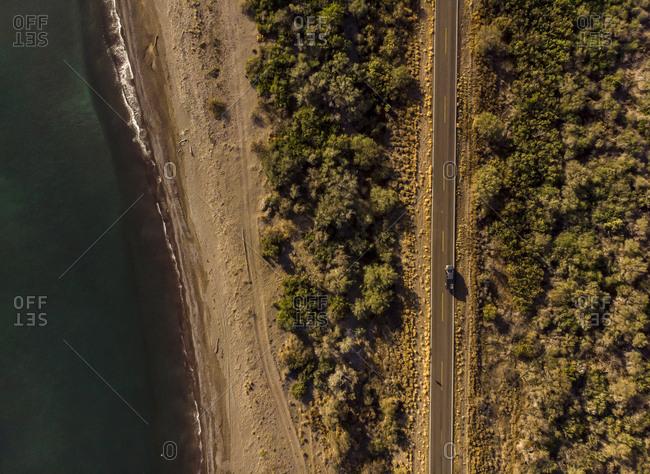 Aerial view of (No Suggestions) road Loreto-Cd. Insurgentes, Baja California Sur, Mexico