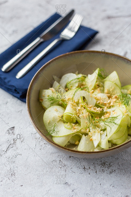 Healthy fennel salad