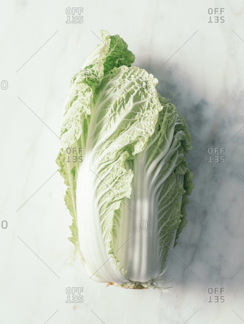 Fresh lettuce on the marble surface