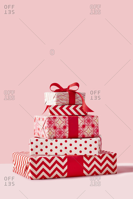 Stack of holiday presents