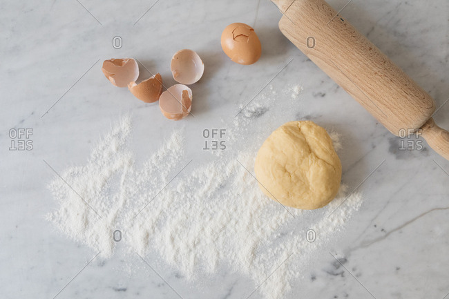 Ingredients to make fresh pasta